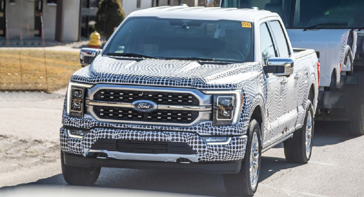 2021 ford f150 facelift spy shots  21truck new and