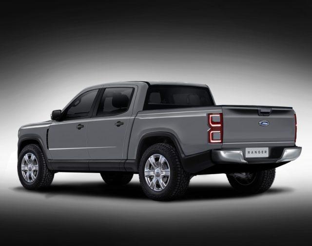 2022 Ford Ranger rear