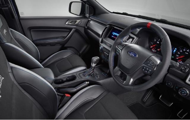 2022 Ford Ranger Raptor cabin