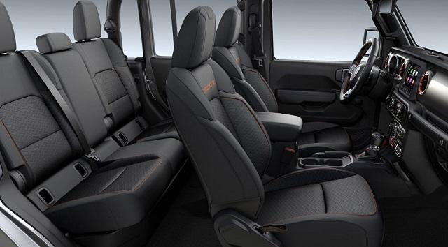 2022 Jeep Gladiator cabin