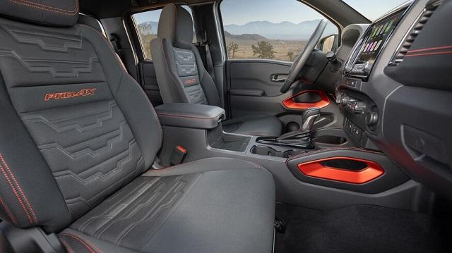2022 Nissan Frontier Pro-4X seats