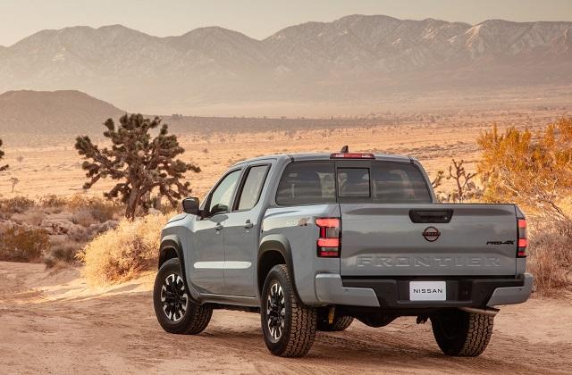 2022 Nissan Frontier Pro-X rear
